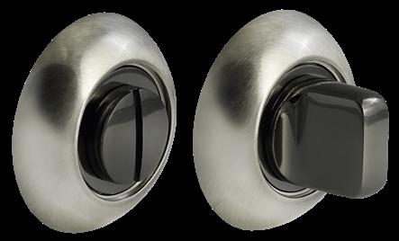 Завертка сантехническая  MH-WC SN/BN черный никель круглая