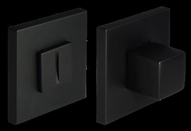 Завертка сантехническая MH-WC-S6 BL (черная) квадратная тонкая