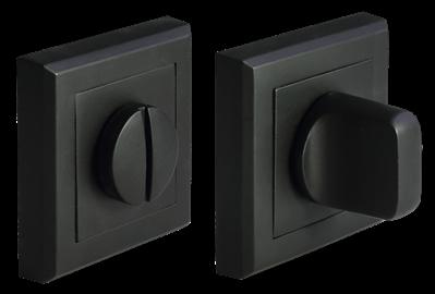 Завертка сантехническая  квадрат MH-WC-S Bl (черный)