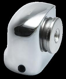 Ограничитель магнитный MDS- 2 SN, цвет белый никель
